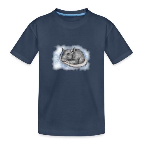 Rottapiirros - Värikuva - Teinien premium luomu-t-paita