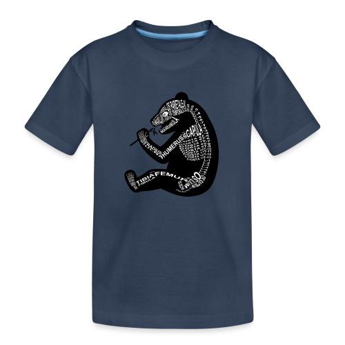 Panda skelet - Teenager premium biologisch T-shirt
