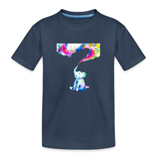 Elephant Color Explosion - Maglietta ecologica premium per ragazzi