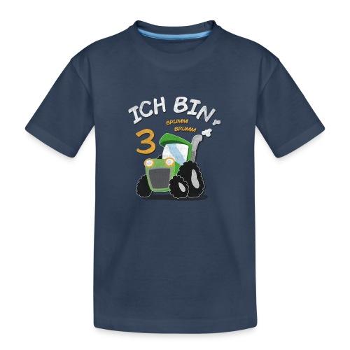 Kinder 3. Geburtstags Traktor Junge Shirt - Teenager Premium Bio T-Shirt