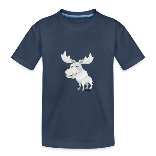 Albino elg - Premium økologisk T-skjorte for tenåringer
