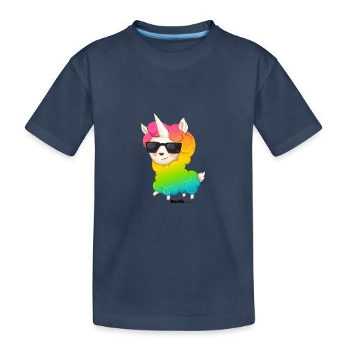 Regenboog animo - Teenager premium biologisch T-shirt