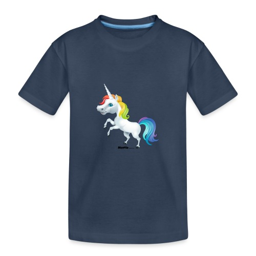 Regenboog eenhoorn - Teenager premium biologisch T-shirt