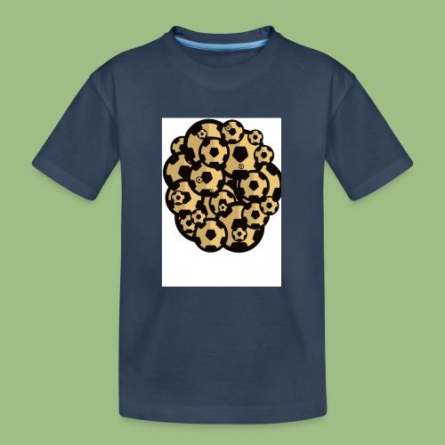 Fotball of footballs - Ekologisk premium-T-shirt tonåring