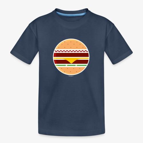 Circle Burger - Maglietta ecologica premium per ragazzi