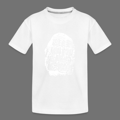 Fingerprint DNA (white) - Teenager Premium Organic T-Shirt