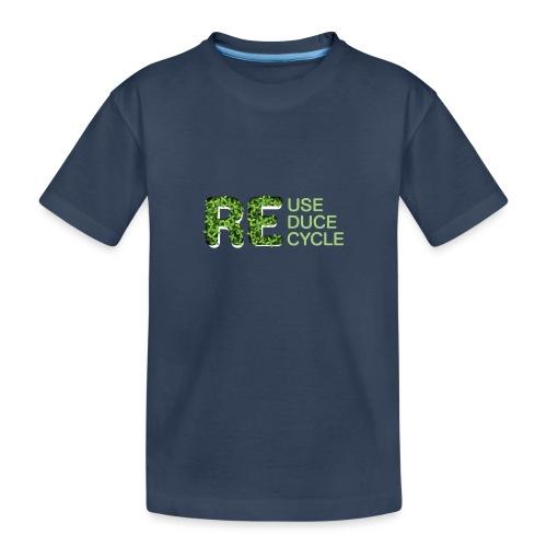 REuse REduce REcycle - Maglietta ecologica premium per ragazzi