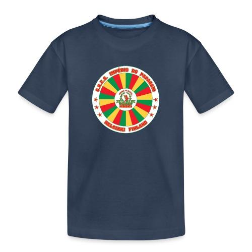Papagaio drum logo - Teinien premium luomu-t-paita