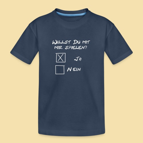 willst du mit mir spielen? - Teenager Premium Bio T-Shirt