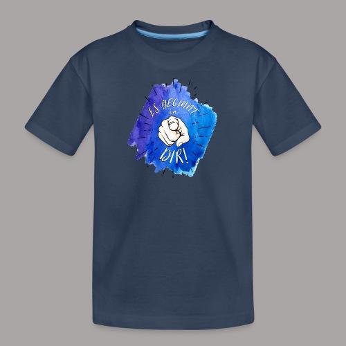 shirt blau tshirt druck - Teenager Premium Bio T-Shirt