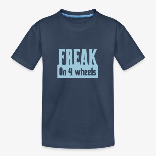 Gek op vier rolstoel wielen - Teenager premium biologisch T-shirt