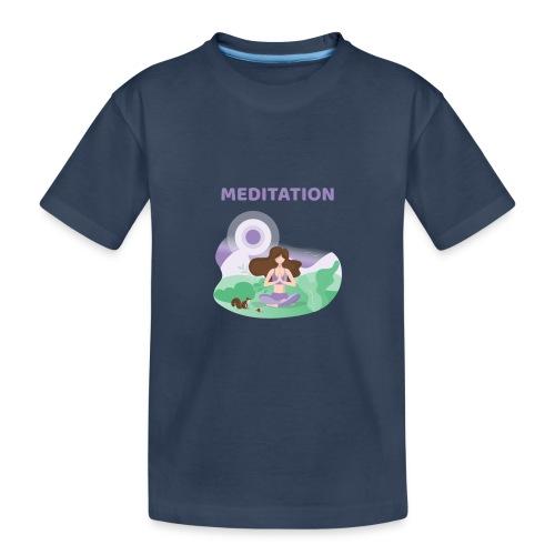 Yoga Meditation - Maglietta ecologica premium per ragazzi
