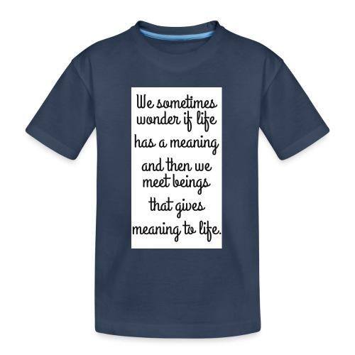 Phrase d'amour en anglais - T-shirt bio Premium Ado