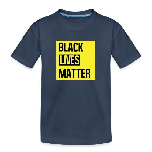 Black Lives Matter (yellow) - Teenager premium biologisch T-shirt