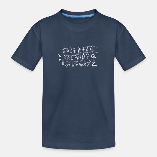 Stranger Things Alphabet T-Shirts - Teenager Premium Organic T-Shirt