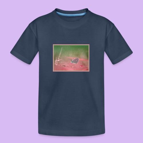 Farfalla nella pioggia leggera - Maglietta ecologica premium per ragazzi