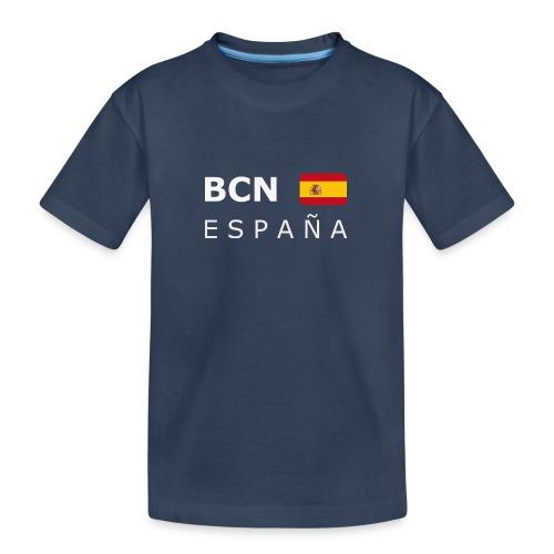 BCN ESPAÑA white-lettered 400 dpi - Teenager Premium Organic T-Shirt