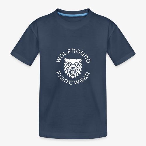 logo round w - Teenager Premium Organic T-Shirt