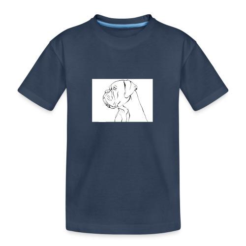 ritratto di un cane - Maglietta ecologica premium per ragazzi