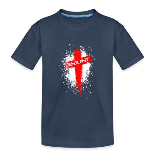 England Painted-Red - Teenager Premium Organic T-Shirt