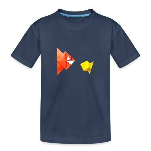 Origami Piranha and Fish - Fish - Pesce - Peixe - Teenager Premium Organic T-Shirt