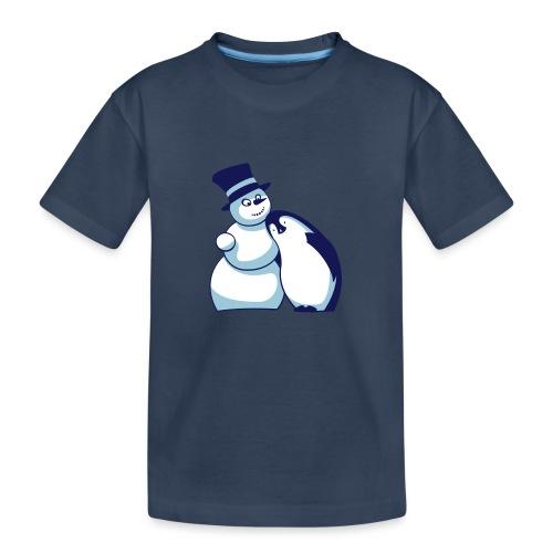 Schneemann und Pinguin - Teenager Premium Bio T-Shirt