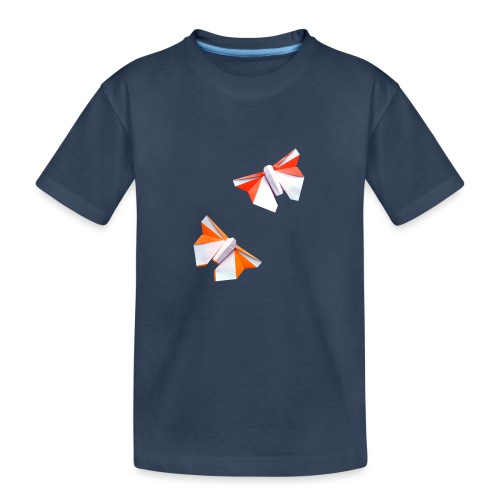 Butterflies Origami - Butterflies - Mariposas - Teenager Premium Organic T-Shirt