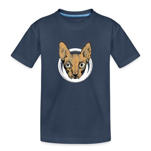 sphynx white bg - Ekologisk premium-T-shirt tonåring