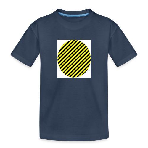 varninggulsvart - Ekologisk premium-T-shirt tonåring