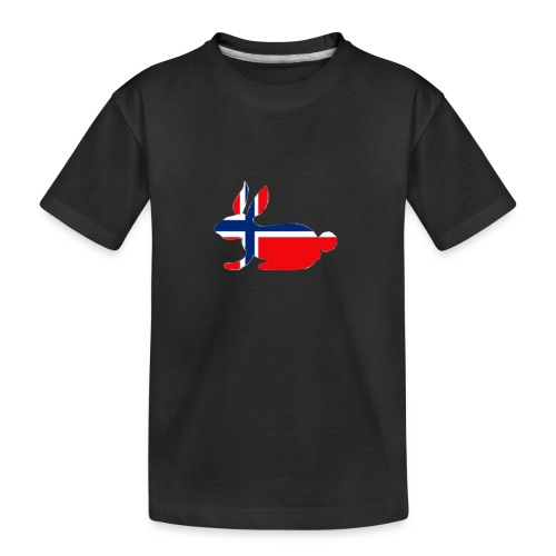 bunny logo - Teenager Premium Organic T-Shirt