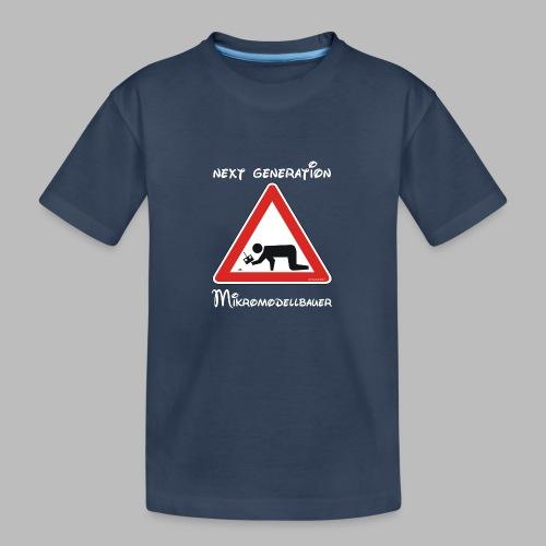 Warnschild Mikromodellbauer Next Generation - Teenager Premium Bio T-Shirt