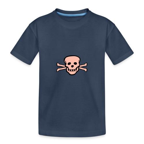 skull tattoo style - Teenager Premium Bio T-Shirt