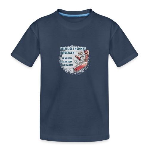 TYÖKALU todelliselle ammattilaisille, Tekstiilit.. - Teinien premium luomu-t-paita