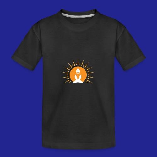 Guramylyfe logo white no text - Teenager Premium Organic T-Shirt