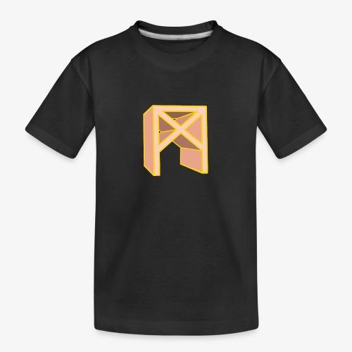 Rune Mannaz in Living-Coral - Teenager Premium Bio T-Shirt