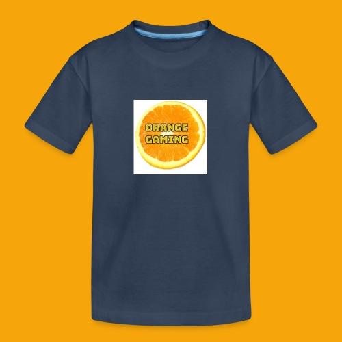 Orange_Logo_White - Teenager Premium Organic T-Shirt