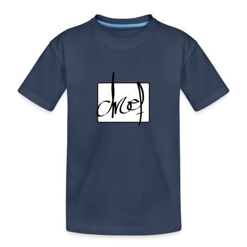 Droef.Gent logo zwart - Teenager premium biologisch T-shirt