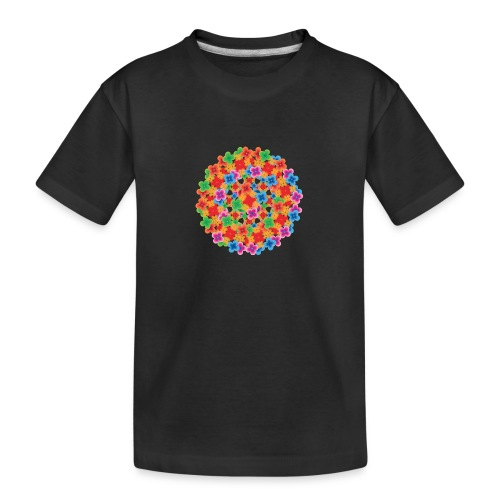 Flower mix - Teenager premium T-shirt økologisk