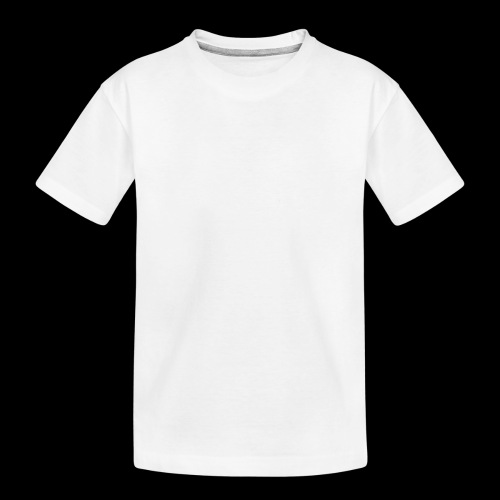 logo hvid png - Teenager premium T-shirt økologisk