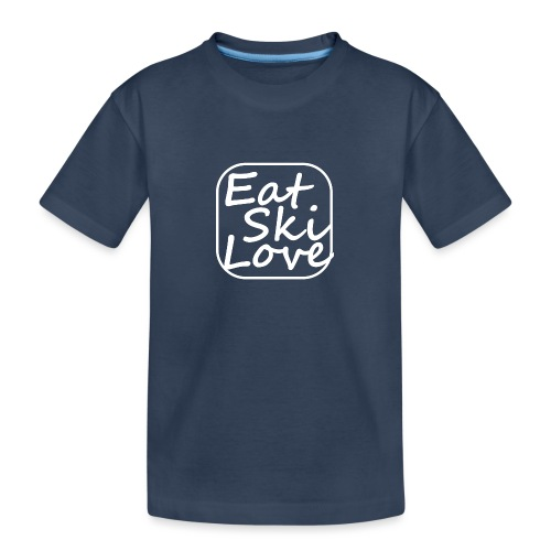 eat ski love - Teenager premium biologisch T-shirt