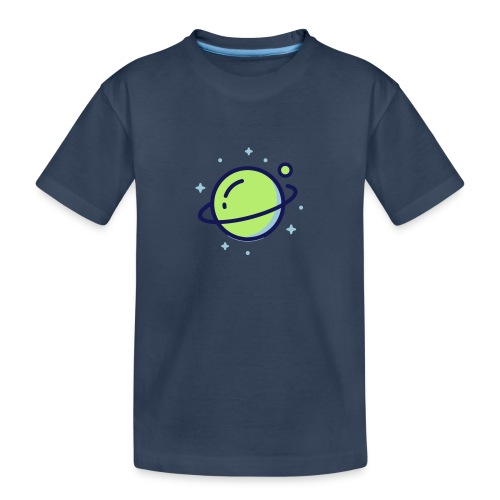 Space Earth - Teenager premium biologisch T-shirt