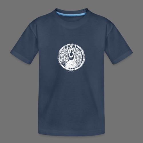 Maschinentelegraph (hvid oldstyle) - Teenager premium T-shirt økologisk
