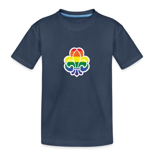 Regnbuespejder jakker og t-shirts mv - Teenager premium T-shirt økologisk