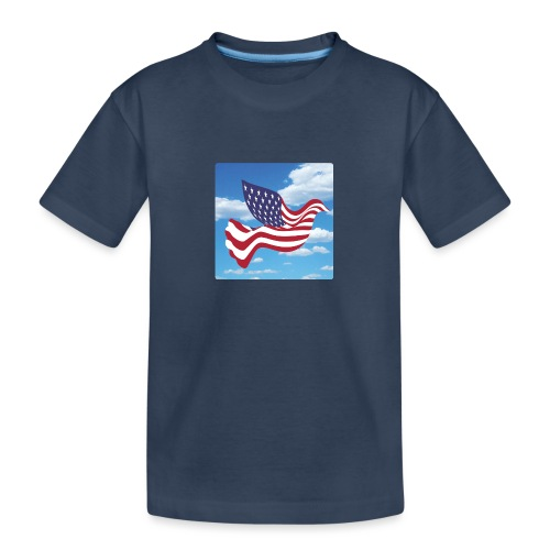 USA Spreads Peace - Teenager Premium Organic T-Shirt