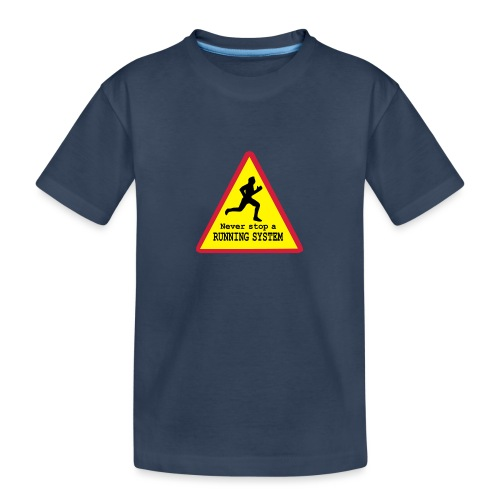 Never stop running - Teenager Premium Bio T-Shirt