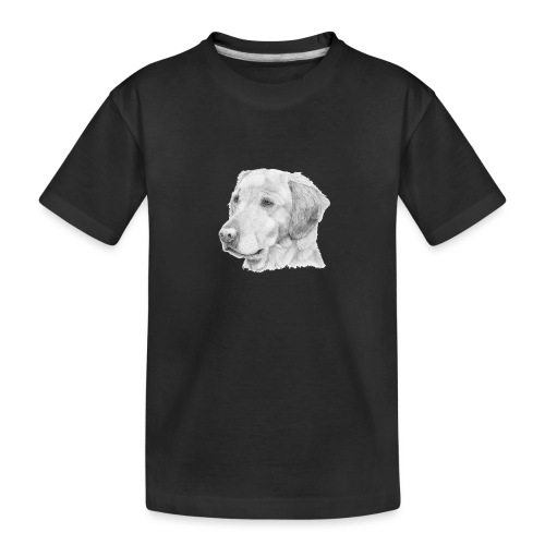 Golden retriever 2 - Teenager premium T-shirt økologisk