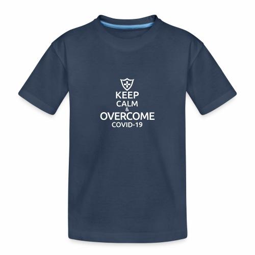 Keep calm and overcome - Ekologiczna koszulka młodzieżowa Premium