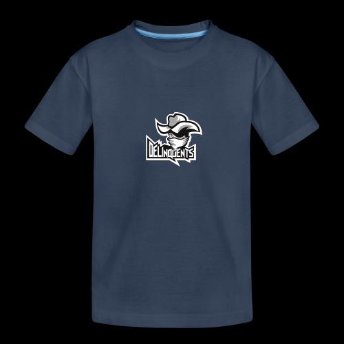 Delinquents TriColor - Teenager premium T-shirt økologisk