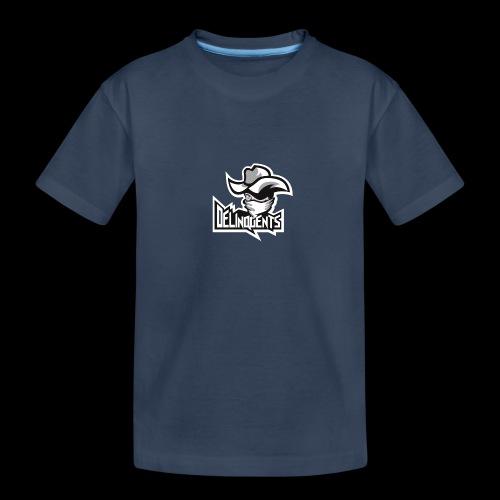 Delinquents Hvidt Design - Teenager premium T-shirt økologisk