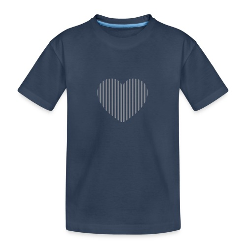 heart_striped.png - Teenager Premium Organic T-Shirt